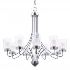 Clear Glass LED Chandelier
